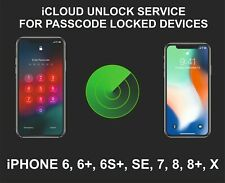 iCloud Remote Unlocking Service, Screen Locked Device, iPhone 6, 7, SE, 8, 8+, X