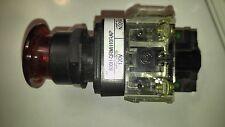 Allen Bradley 800H-QRMH10RAP Ser F Illuminator PB Switch 120 Volt LED Red; Used