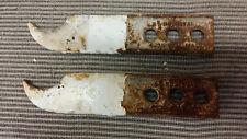 PAIR CAST IRON RADIATOR BRACKETS - 4 COLUMN / OLD SCHOOL - INSTEAD OF FEET