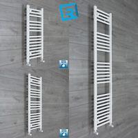 300 mm Wide White Ladder Heated Towel Rail Radiator Designer Bathroom Narrow
