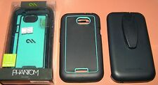 Case Mate Phantom Holster Case HTC One X/XL, Navy Blue & Teal, screen protector