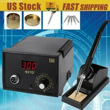 937D Soldering Station Digital Display Constant-Temperature 5Pc Solder Tips US