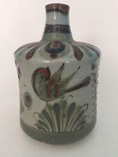 Vintage El Palomar Ken Edwards Tonala Pottery Carafe Vase Bottle Mexico Bird