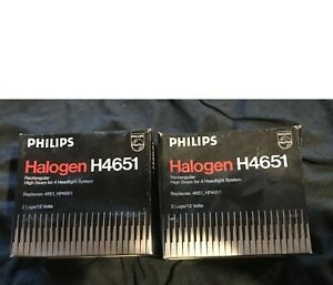 New Philips H4651 Halogen Headlamps C-6 12V 50W High Beams 2 Two