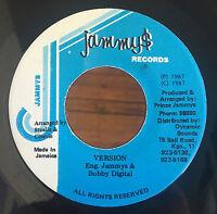 """Cocoa Tea - Girl Go Home VG+ 7"""" Jamaica 45 Jammy's Reggae Dancehall RARE"""