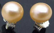 Flat Round Pearl Earring -ear282 Sale Small 7-8mm Natural Pink Freshwater