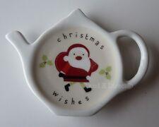 Santa Claus Father Christmas Festive Holiday Teabag Tea Bag Holder Spoon Rest