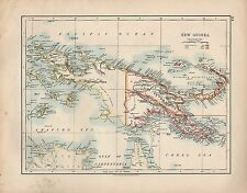 1909 MAP ~ NEW GUINEA BISMARCK ARCHIPELAGO NEW POMME POSSESSIONS