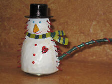 """Snowman Winter Theme Candle Snuffer 3"""" Metal"""