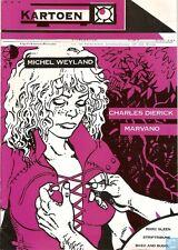 Kartoen Stripfanzine nr 25 Marvano /Michel Weyland/ Charles Dierick