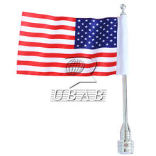 Rear Luggage Rack Bracket Mount Metal Chrome Pole USA Flag For Harley Sportster