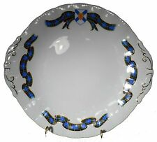 PARAGON china NOVA SCOTIA TARTAN pattern CAKE PLATE tab handled