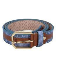 cintura uomo ALV BY ALVIERO MARTINI  110/125 (56) blu  marrone  pelle DT818