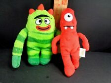 2 Yo Gabba Gabba Plush Keychain Backpack Belt Clips Brobee Muno Set