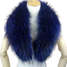 COLLO PELLICCIA di MURMASKY BLU FOURRURE de RENARD silver FOX LIGHT BLUE