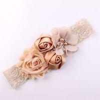 EG_ Lace Flower Design Hairband Turban Headwear For Newborn Hair Accessories Nov