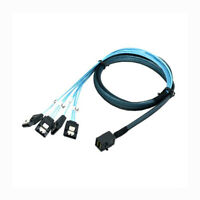 Mini SAS SFF-8643 to 4 SATA 7pin hard disk 6Gbps data Server Raid Cable 1m