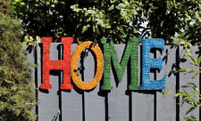 """NEW MODERN NOVELTY METAL """"HOME SIGN"""" HOME OR GARDEN RETRO WALL ART WECOME SIGN"""