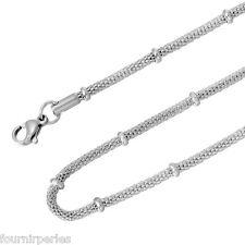 1 Collier Chaîne Serpent Acier inoxydable Accessoire Bijoux 50cmx2.5mm