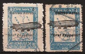 Paraguay - Fx. 561 - Yv. Ae. 44/5 - surchaged Zeppelin - 1932 - Ø