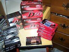 (46) New/Sealed Blank Cassettes 60 & 90 Minute Memorex (7) TDK (30) Maxell (9)