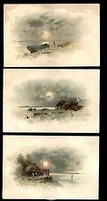 1880's ~ 3 PALACE ORGAN TRADE CARDS, LORING & BLAKE ORGAN CO WORCESTER MA TC1187