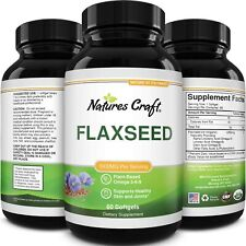 Omega Flaxseed Oil 1000mg Softgels Brain Support Constipation Relief