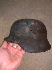 Great WW2 Normandy Relic Luftwaffe German Helmet - Solid relic!
