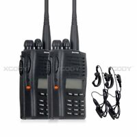 2pcs PX-777 Ham Walkie Talkie Headset Two Way Radio Interphone VHF 136-174MHz 5W