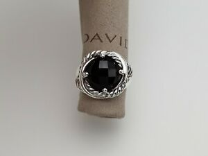 David Yurman 11mm Infinity Ring with Black Onyx size 8