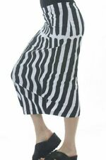 Rundholz Black Label Stretch Black and White Striped Skirt - New with Labels!
