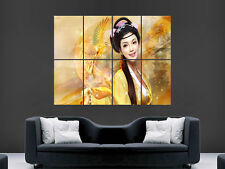 GEISHA POSTER PHOENIX BIRD JAPANESE FEMALE ART PICTURE PRINT LARGE GIANT HUGE