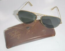 VINTAGE BAUSCH & LOMB RAY BAN 12K GF GOLD AVIATOR SUNGLASSES MADE IN USA L@@K