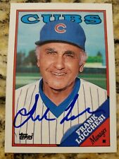 FRANK LUCCHESI autograph baseball card 1988 Topps #564 signed Chicago Cubs auto
