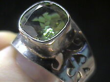RING 11 SILVER RUSSIAN ALEXANDRITE  COLOR CHANGE 925 sterling Unisex bold green