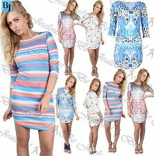 Unbranded Polyester 3/4 Sleeve Floral Dresses for Women