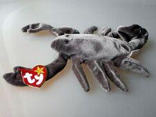 Ty Beanie Baby Stinger Scorpion retired Hologramm Herz tush tag unbespielt Neu