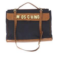 Vintage Moschino Dangle Charm Large Computer  Hand Bag.NFV4758