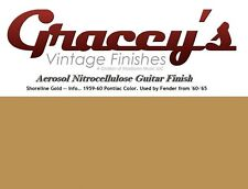 -Shoreline Gold- Gracey's Vintage Finishes Nitrocellulose Guitar Lacquer.
