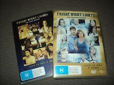 BULK LOT X 2 DVD - FRIDAY NIGHT LIGHTS - SEASON / SERIES 1 + 2 REGION 4 COMPLETE