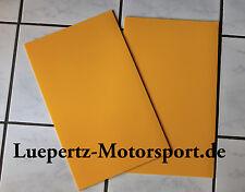 Schmutzfänger Steinschlagschutz gelb 4mm FIA,  Rallye Rallycross Autocross