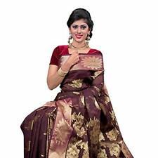 Women's Fashionable Cotton Silk Katan Sari | Fancy Party Wear saree for Women