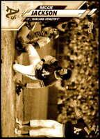 Reggie Jackson 2020 Topps Short Print Variations 5x7 Gold #560 /10 Athletics