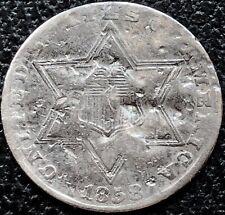 1858 Three Cent Piece Silver Trime 3c Higher Grade #16218
