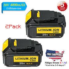 2X For Dewalt 20V Volt Max XR DCB204 4.0Ah Lithium Ion Batteries Li-ion DCB204-2