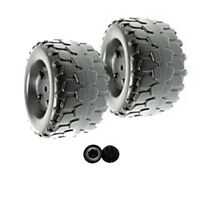 Power Wheels B7659-2459 Jeep Wrangler Set of 2 Wheels (2x) Includes Retainers