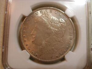 1885 O Morgan Silver Dollar NGC MS64 mushroom toned