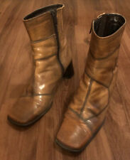 Clarks Elastomere Womens Brown Leather Healed Boots UK4