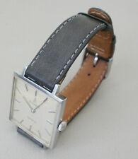 Dugena Geneve Swiss made, mechanische Armbanduhr mit Lederarmband, Handaufzug