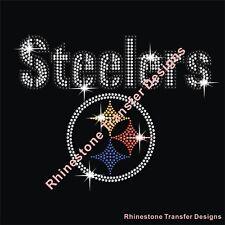 "Rhinestone Transfer ""Steelers"" New Hotfix , Iron On, Bling, Rhinestone Motif"